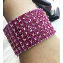 Pink Round Ladies Designer Bangle, Packaging Type: Box