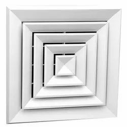 Air Conditioner Ceiling Diffuser, For Commercial, Shape: Square