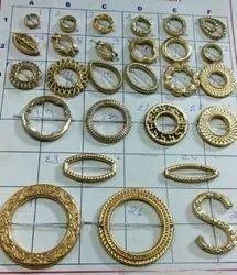 Golden Rectangular Artificial Beads Code No 06