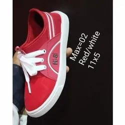 Daily wear Red,White Kids Red Canvas