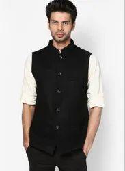 Yugalik Trendz Mens Black Modi Jacket