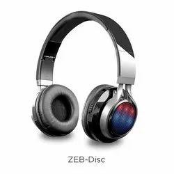Black Zebronics Disc Bluetooth Headset, Weight: 390 Gm