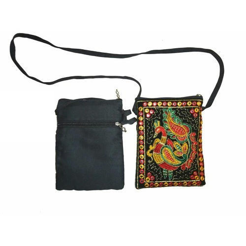 371f5e5cc3d4 Embroidered Mobile Sling Bag