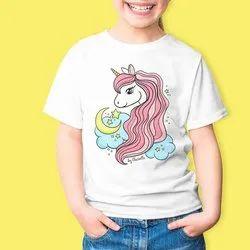 Round Half Sleeves children tshirt, Size: 3-5 Years
