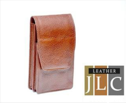 Brown Leather Jlc Mobile Cover