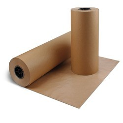 Plain Brown And Grey Kraft Paper Roll