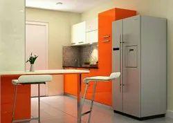 U Type Modular Kitchen, Area / Size: 60 Sq.ft