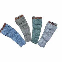 Kids Printed Denim Jeans