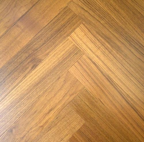 Engineered Wood Flooring Recommended Thickness: Herringbone Teak Engineered Wood Flooring, Thickness: 13