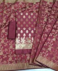 Banarasi Silk Unstitched Suits