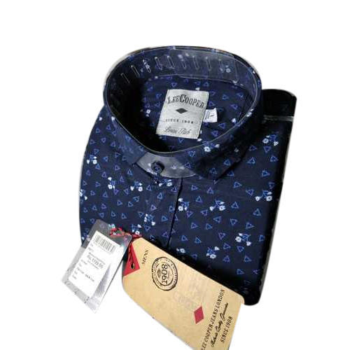273d3d46 Lee Cooper Cotton Dark Blue Printed Shirts, Size: 42, Rs 1199 /piece ...