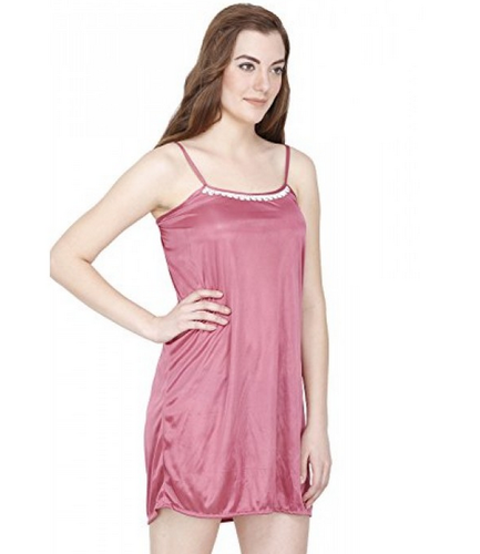 52dc42bb8fc Pink Secret Wish Women  s Satin Babydoll Lingerie Nightwear Nightdress