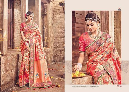 e5ac04145f Krivi Designer Orange Patola Silk Saree, Rs 5790 /piece, Krivi ...