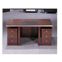 Rectangular Wooden Office Table, 1 Year, Brown