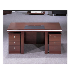 Rectangular Wooden Office Table, No. Of Drawers: 6, Warranty: 1 Year