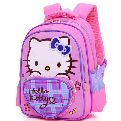 48bf07cc3 Pink Polyester Hello Kitty Girls School Bag, Rs 199 /piece | ID ...