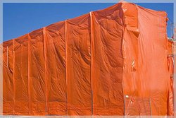 PE Laminated Plain Brick Tarpaulin Covers, Packaging Type: Roll
