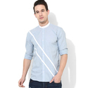 Mens Sky Blue Club Wear Shirt