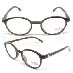 Demo Lens Plastic Optical Frame Round Shape Tr Material Put-On Eyewear 9055