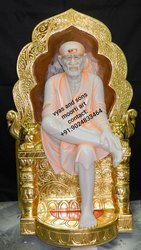 Marble Sai Baba with Singhasan