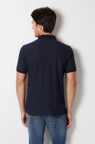 3f6f2ff5d816 Polo Neck XL PKW31700405 Peter England Navy T Shirt, Rs 800 /piece ...