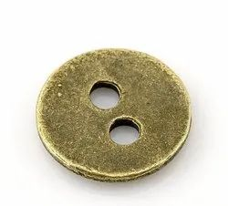 Metal Round Two Hole Sewing Buttons, For Shirt, Packaging Type: Polypack