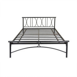 Metal Double Bed Without Storage