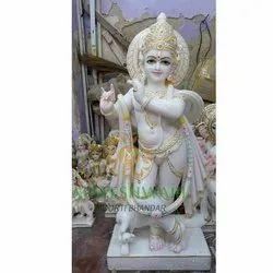 White Marble Lord Krishna Moorti