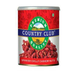 Country Club Spanish Chilly Cashew Nuts, Packaging Type: Tin