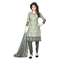 Rajnandini Mint Green Cotton Printed Unstitched Dress Material