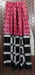 Girraj Printers Party Wear Chanderi Silk Saree, 6.3 M (With Blouse Piece)
