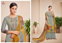 Cotton Embroidered Salwar Suits