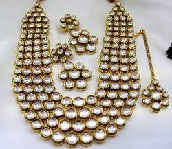 Kumar Jewels Best Selling Ethnic Kundan Stone Fine God Plated Charm Necklace
