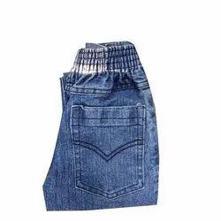 Casual Wear Faded Kids Blue Denim Jeans, Size: S-xxl