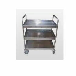 Silver Kitchen Utility Trolleys