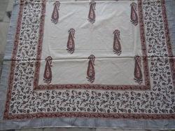 Hand Block Printed Cotton Fabric Bed Sheet Jaipuri Print