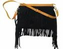 Suede Leather Fringe Cross Body Bag