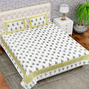 Mughal Print Cotton Double Bedsheets
