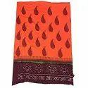 All Over Orange Fancy Design Cotton Bandhani Kurti