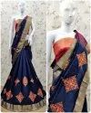 Riva Enterprise Cotton Silk Saree With Amazing Embroidery Work