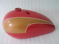 New Triumph T140 Red And Golden Painted Petrol Tank (Reproduction)