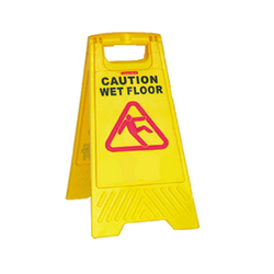 Yellow Caution Board