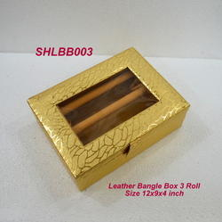 Bangle Box Leather 3 Roll