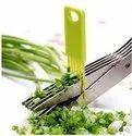 Multifunction 5 Blade Vegetable Stainless Steel Herbs Scissor with Blade Comb-Scissors