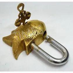 Brass Made Fish Vintage Door Lock