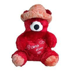 7ef9794476e Red Girl Teddy Bear Soft Toys With Cap 5 Feet
