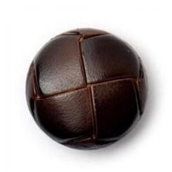 Brown Round Leather Buttons