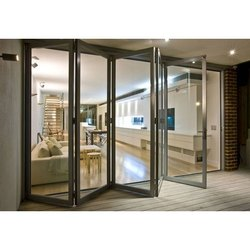 Aluminium & Glass Folding Door, Glass Thickness: 5 to 24 mm