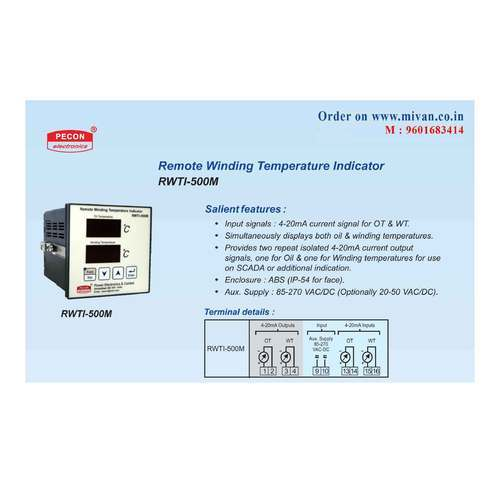 PECON RWTI 500M Remote Winding Temperature Indicator Indicating From 4 To  20 Ma To Digital Display