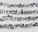Dendrite Pear Faceted Beads